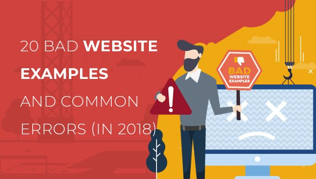 20 Bad Website Examples with Common Errors - Glorywebs